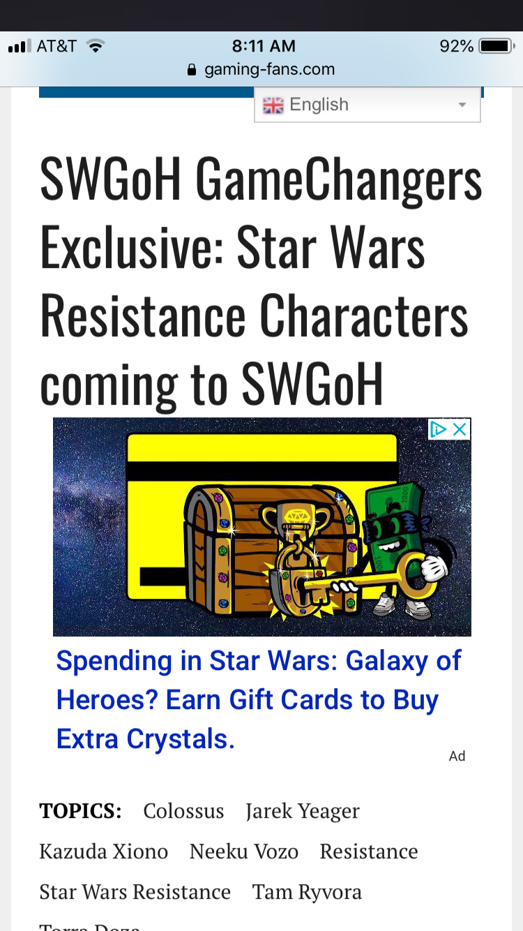 Star Wars Resistance Characters coming to SWGoH! — Star Wars