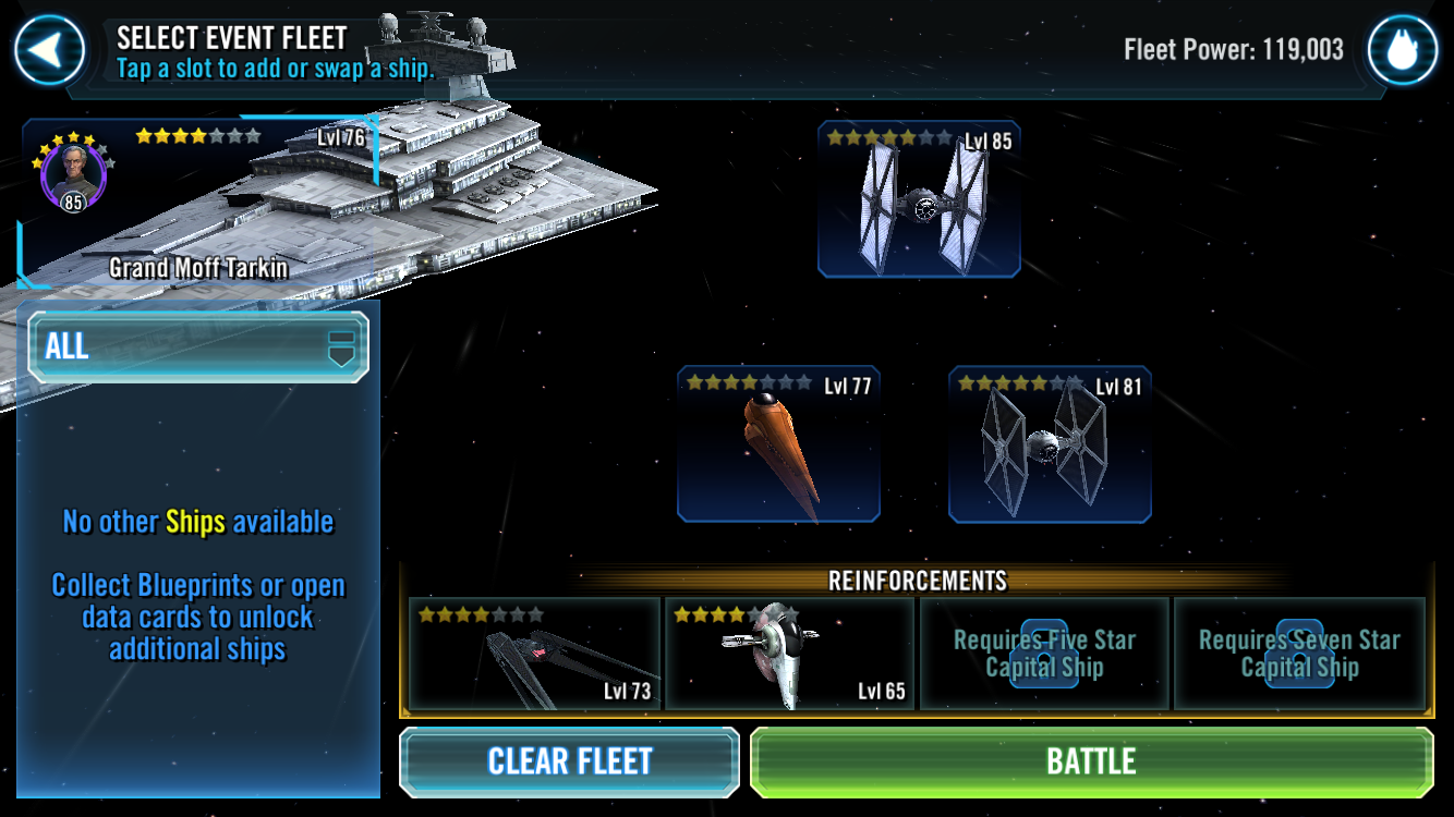 Capital Ship Challenge Star Wars Galaxy Of Heroes Forums