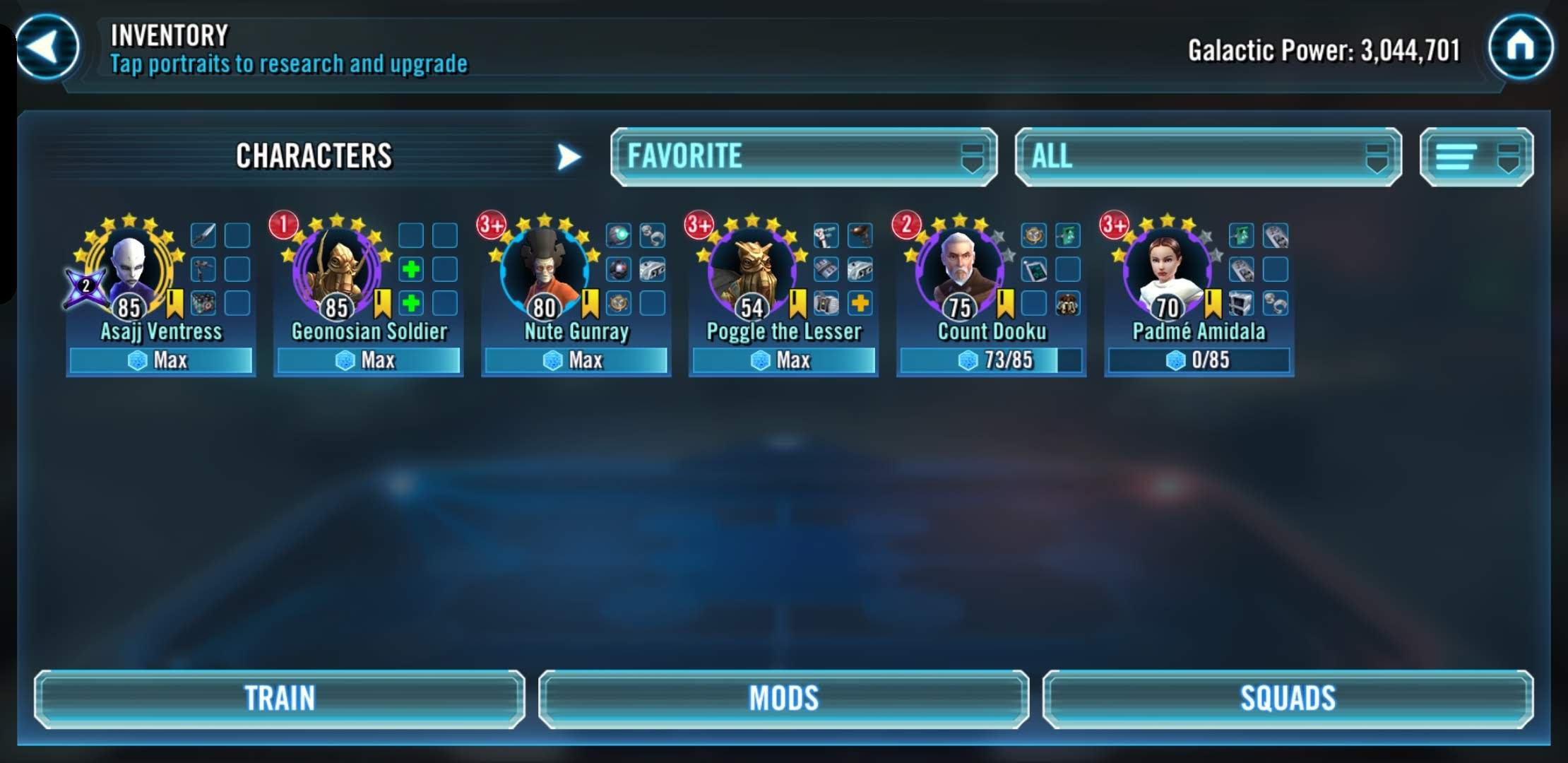 Padme 5* and 7* bare minimum to acquire, please post your