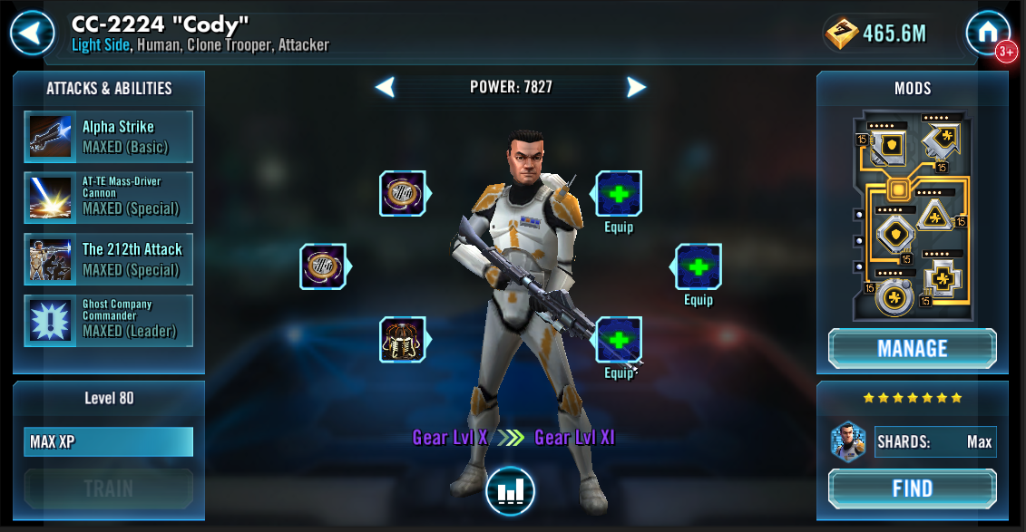 Swgoh character mods | Mods Optimizer  2019-04-30