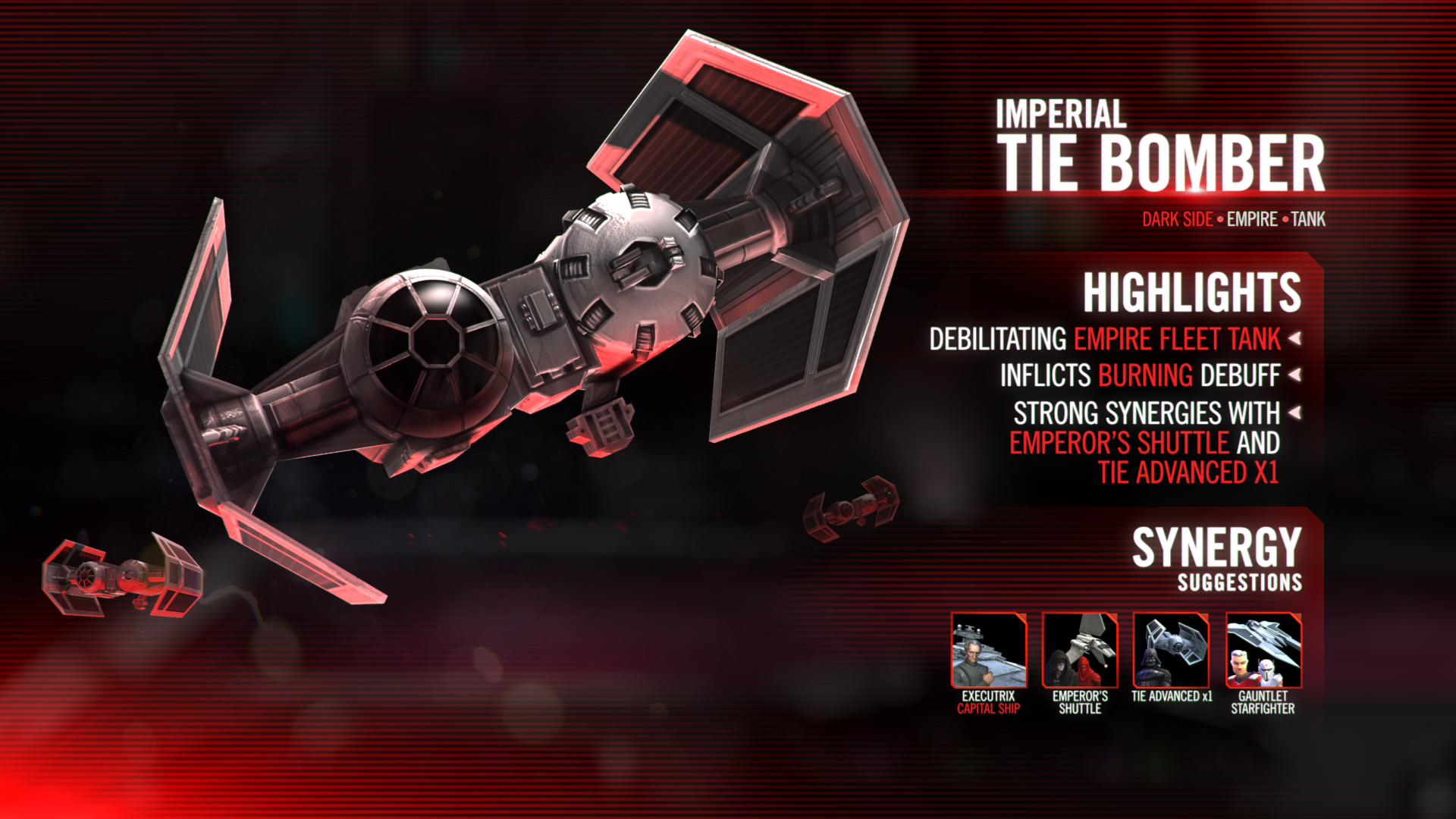 Kit Reveal Imperial Tie Bomber Star Wars Galaxy Of Heroes Forums