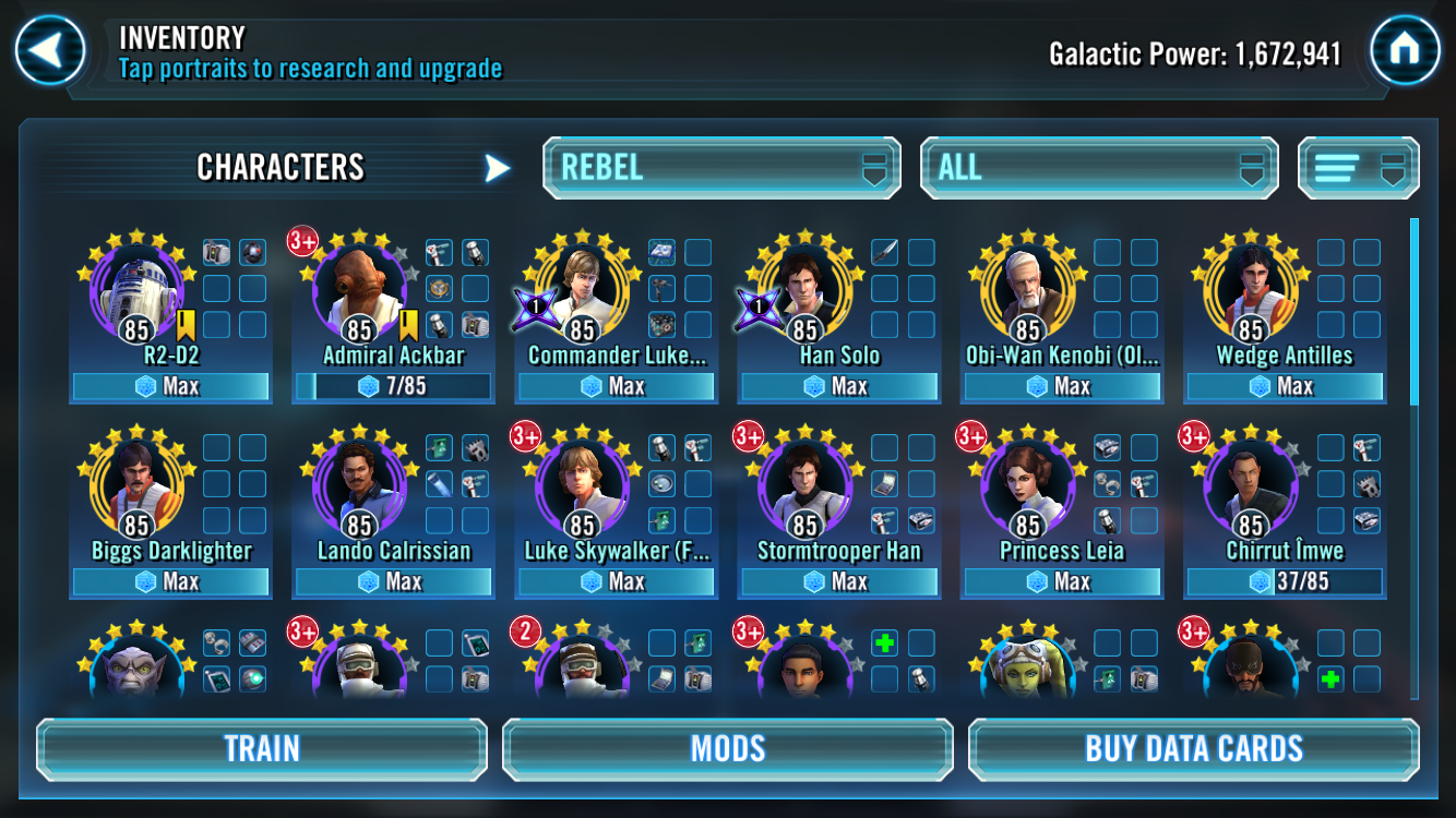 Cls team build — Star Wars Galaxy of Heroes Forums