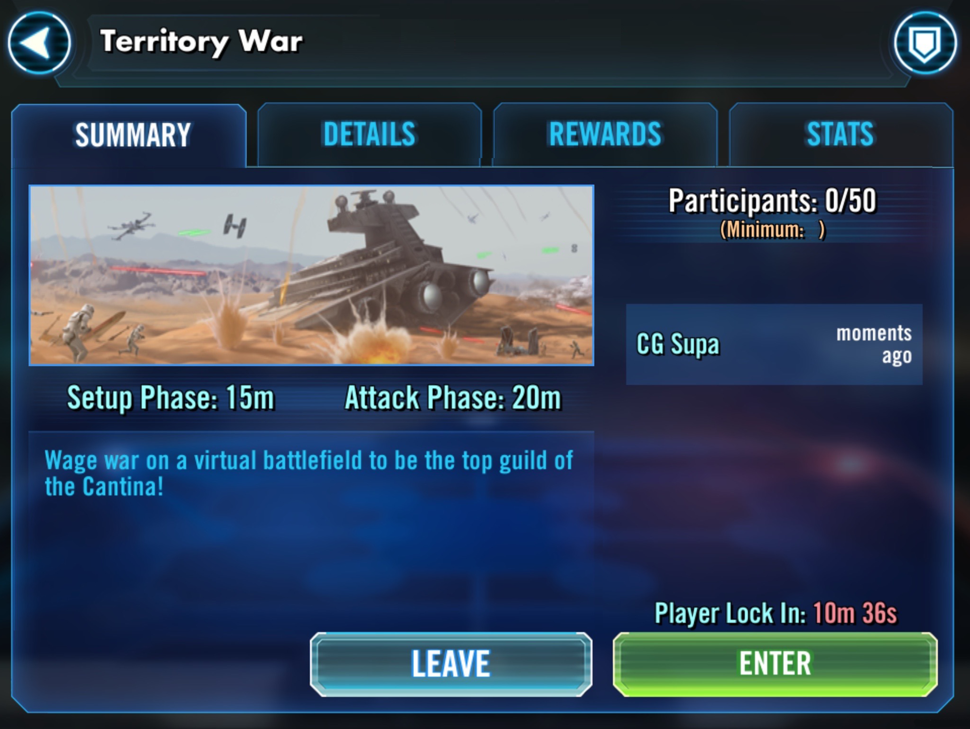 Swgoh arena matchmaking