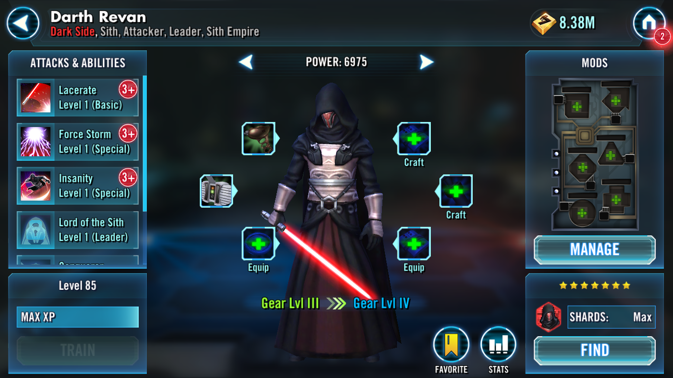 Anyone unlock Darth Revan yet? — Star Wars Galaxy of Heroes