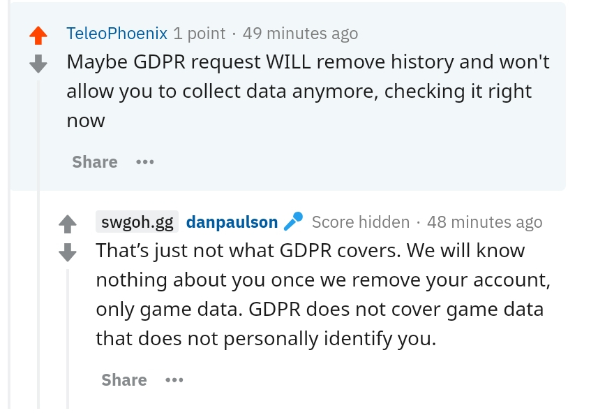 Privacy, swgoh.gg and battle logs - making logs public is ...