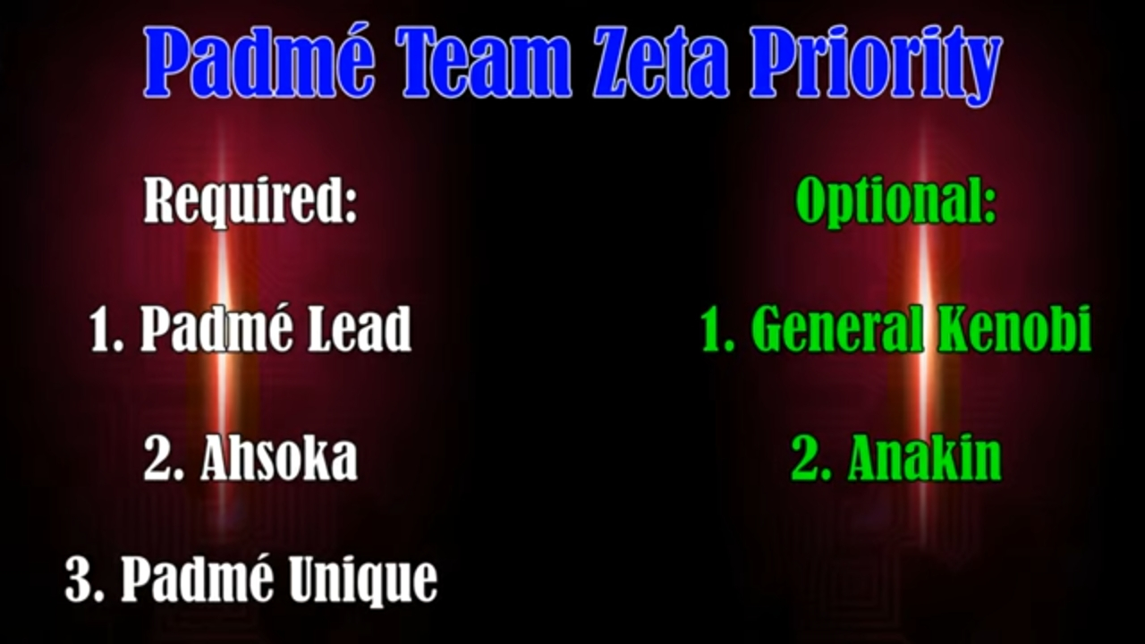 Padme team who to zeta first? — Star Wars Galaxy of Heroes Forums