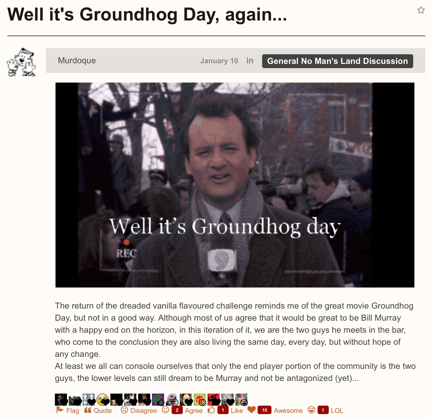 Groundhog Day Movie Quotes Well It's Groundhog Day Again Nextgames