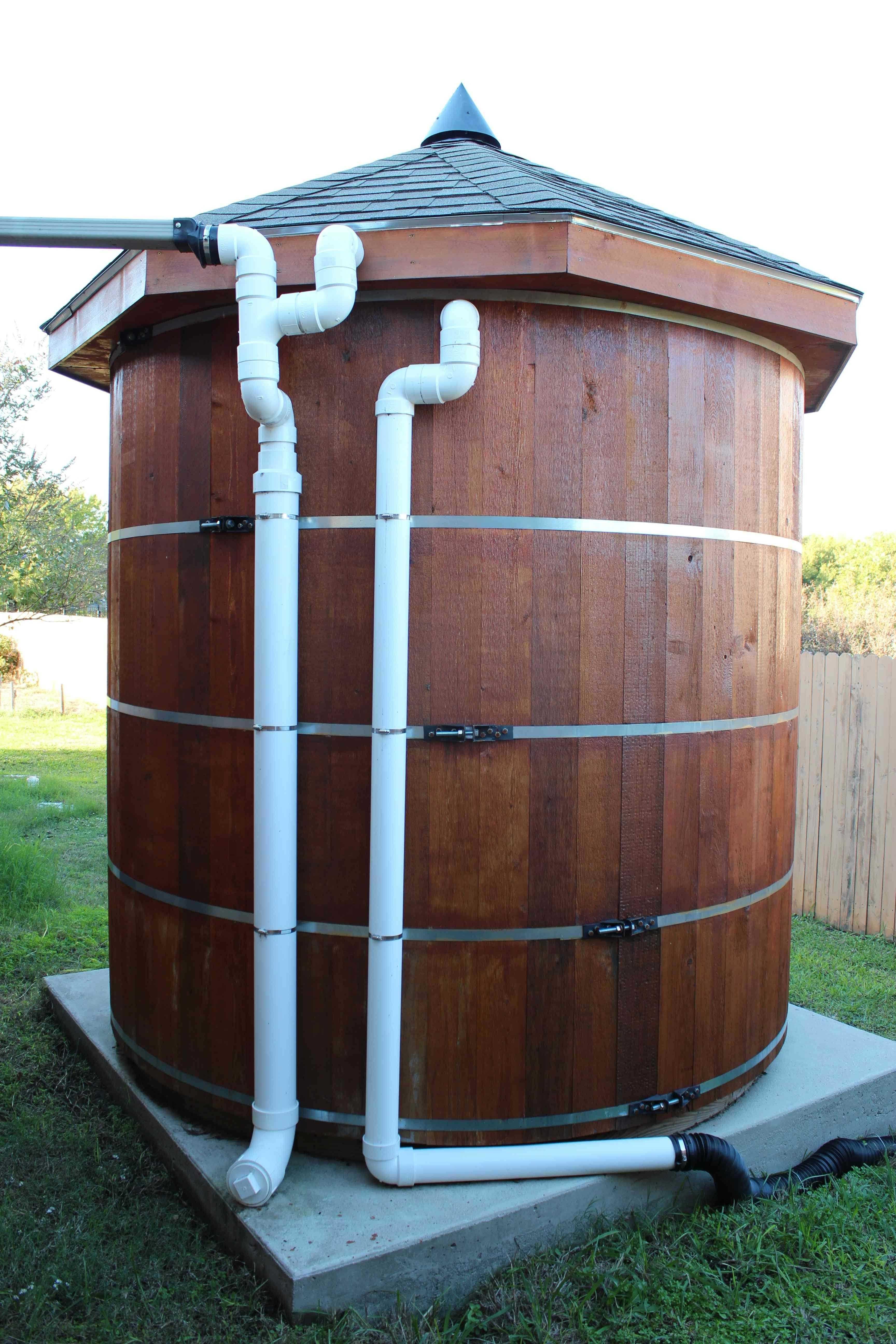 Бетонные емкости для воды на даче
