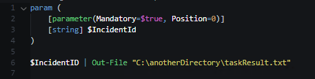 SCSM Console Task PowerShell example