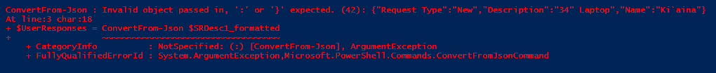 Handling ConvertFrom-Json in PowerShell — Cireson Community