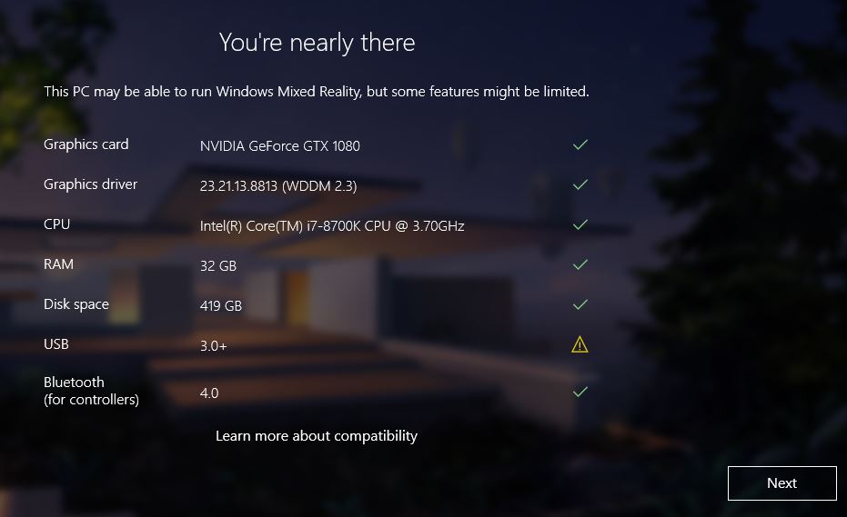 Mixed Reality will not recognize my USB 3 0 or 3 1 ports  — Mixed