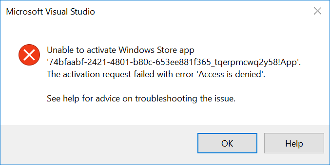 Visual Studio Access To The Path Is Denied Build