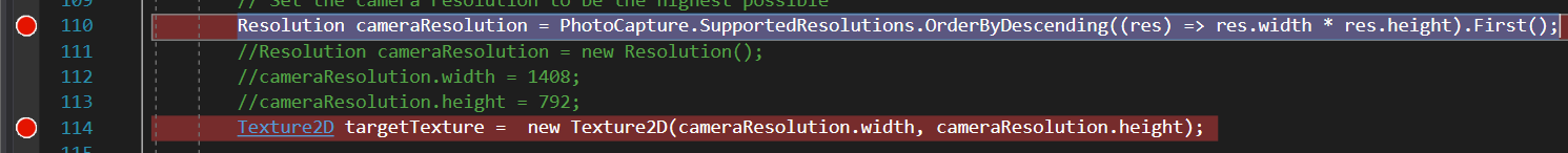 It's error in Unity when I debug Hololens with VS on code