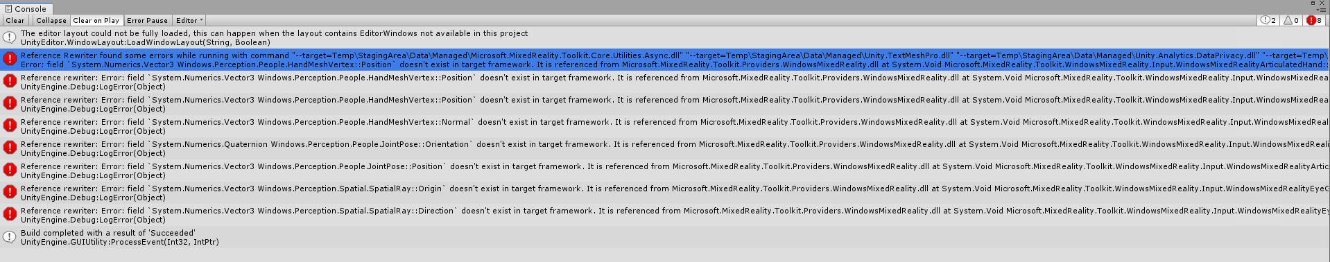 Issues in MRTK for Hololens 2 and Hololens 2 Emulator