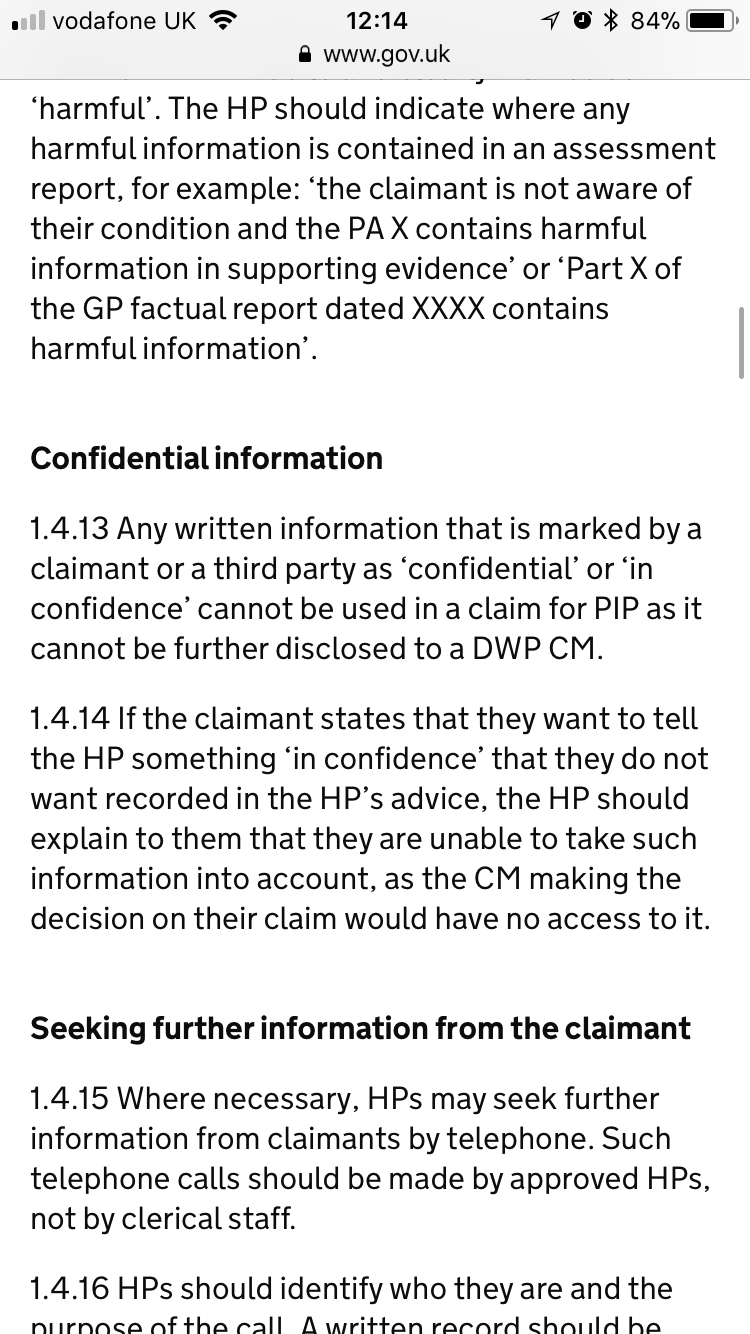Help With PIP Evidence Scope