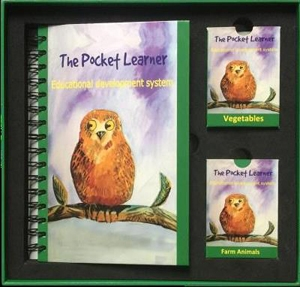Picture of the pocket learner learning system - book and cards