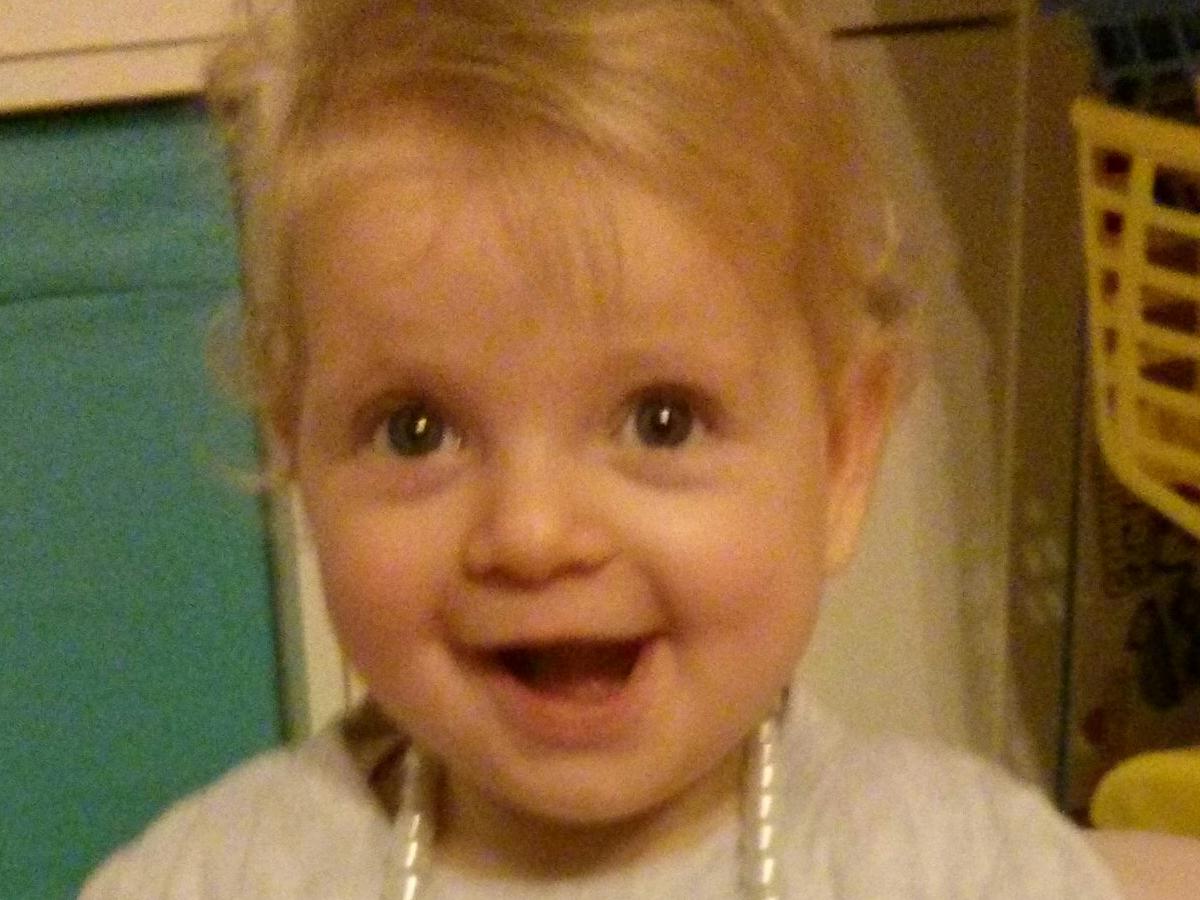 Ellie smiling