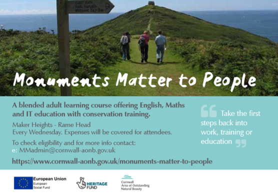 Monuments Matter to People flyer containing contact information that can be found below