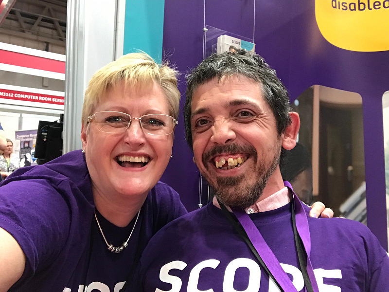 Debbie and Richard at Naidex