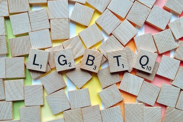 image of scrabble tiles spelling out LGBTQ