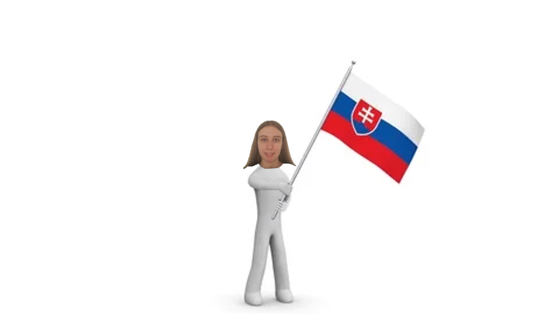 picture of my face edited badly onto a figure holding the slovakian flag