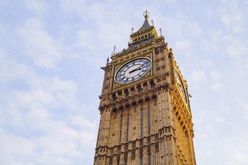Photo capturing the top of Big Ben
