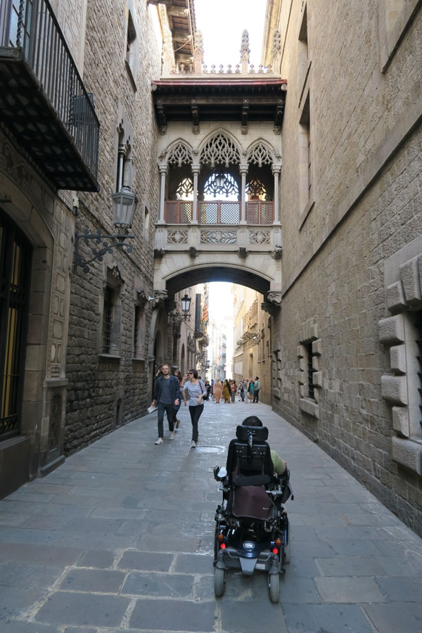 barcelona travel in a wheelchair