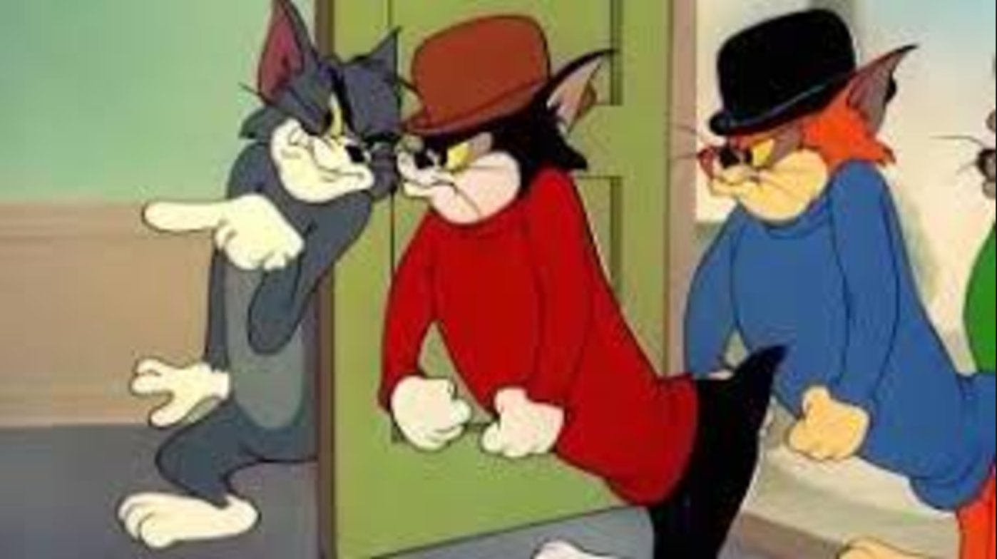 An image of Tom of Tom and Jerry and fellow cats of dubious origins