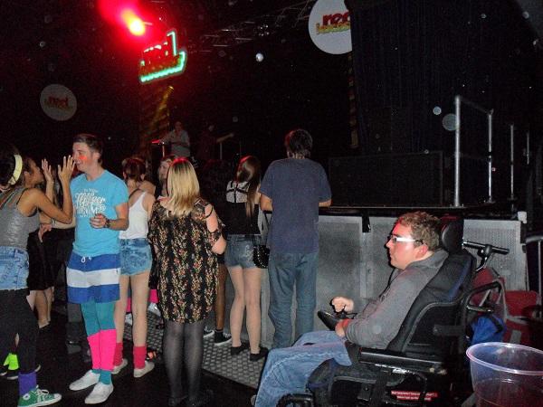 wheelchair user at a nightclub