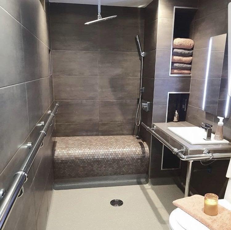 A photograph of an adapted bathroom