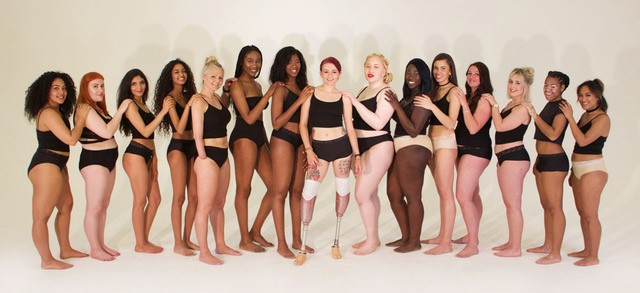 diverse group of women wearing period proof underwear