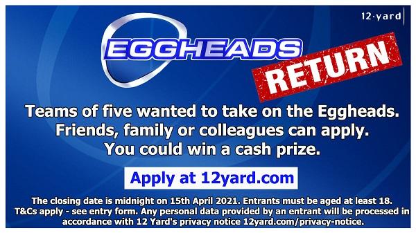 Eggheads casting advert