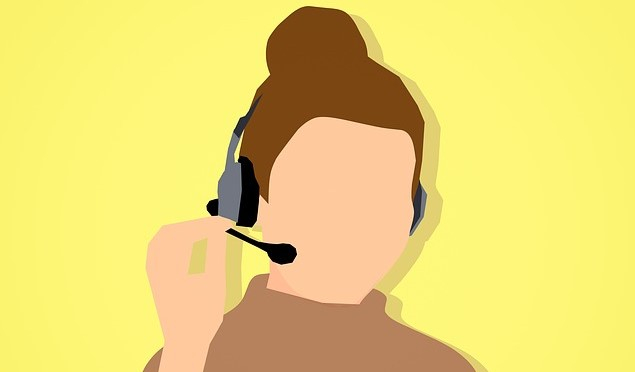 drawn image of a telephone operator