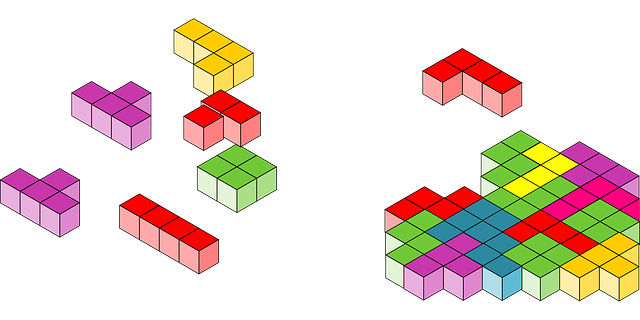 colourful Tetris blocks