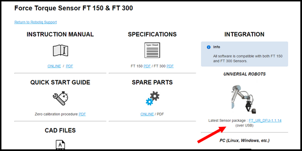 Calibration Procedure for the UR software package — DoF