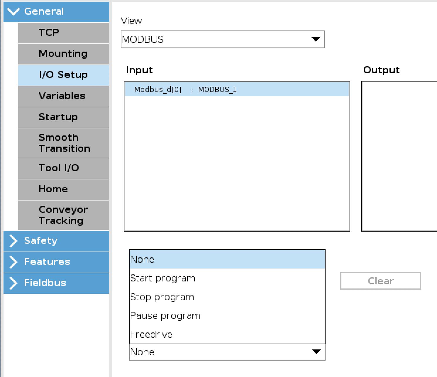 Modbus Commands in UR e series — DoF