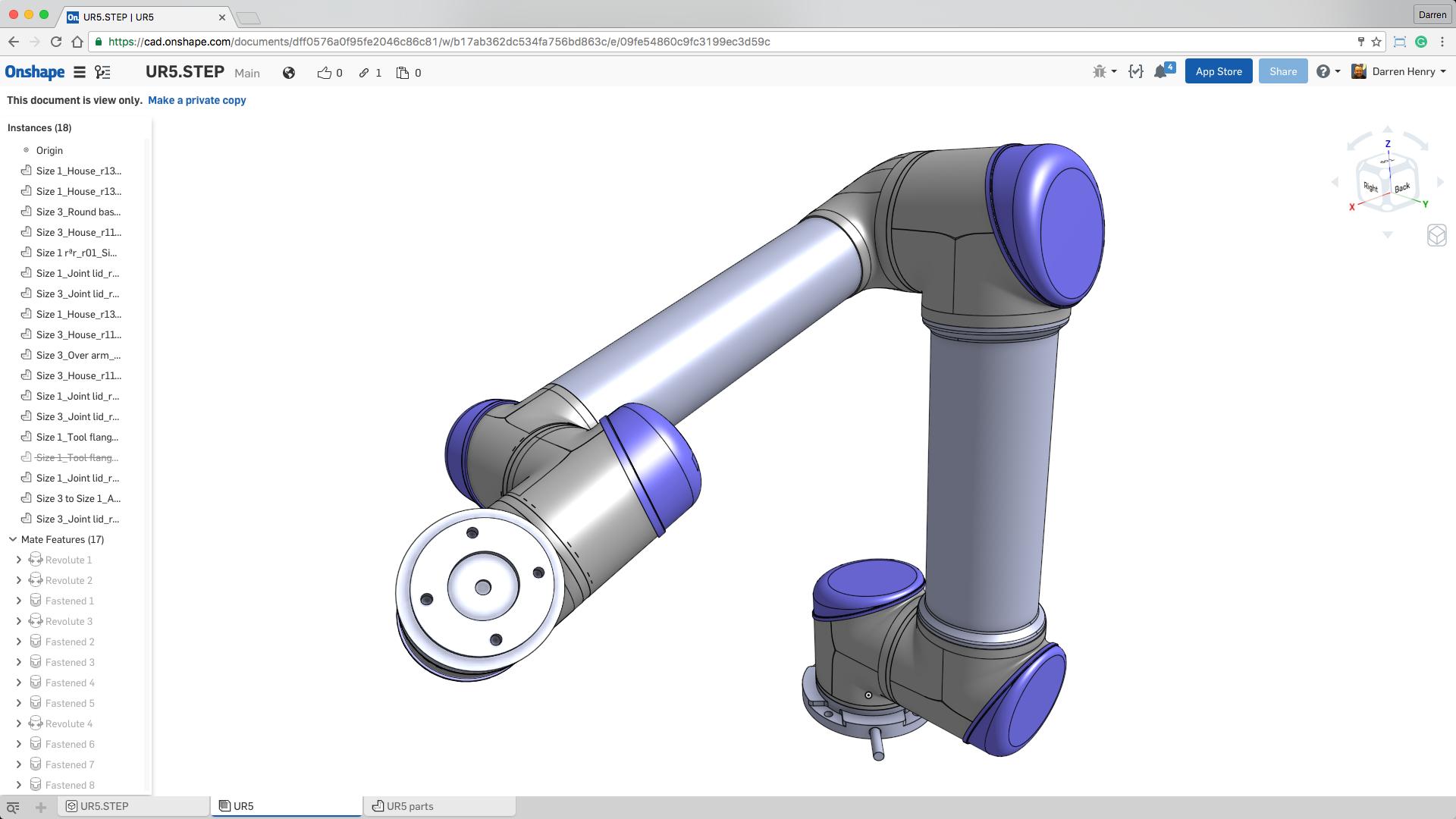 Universal Robot CAD Model — DoF