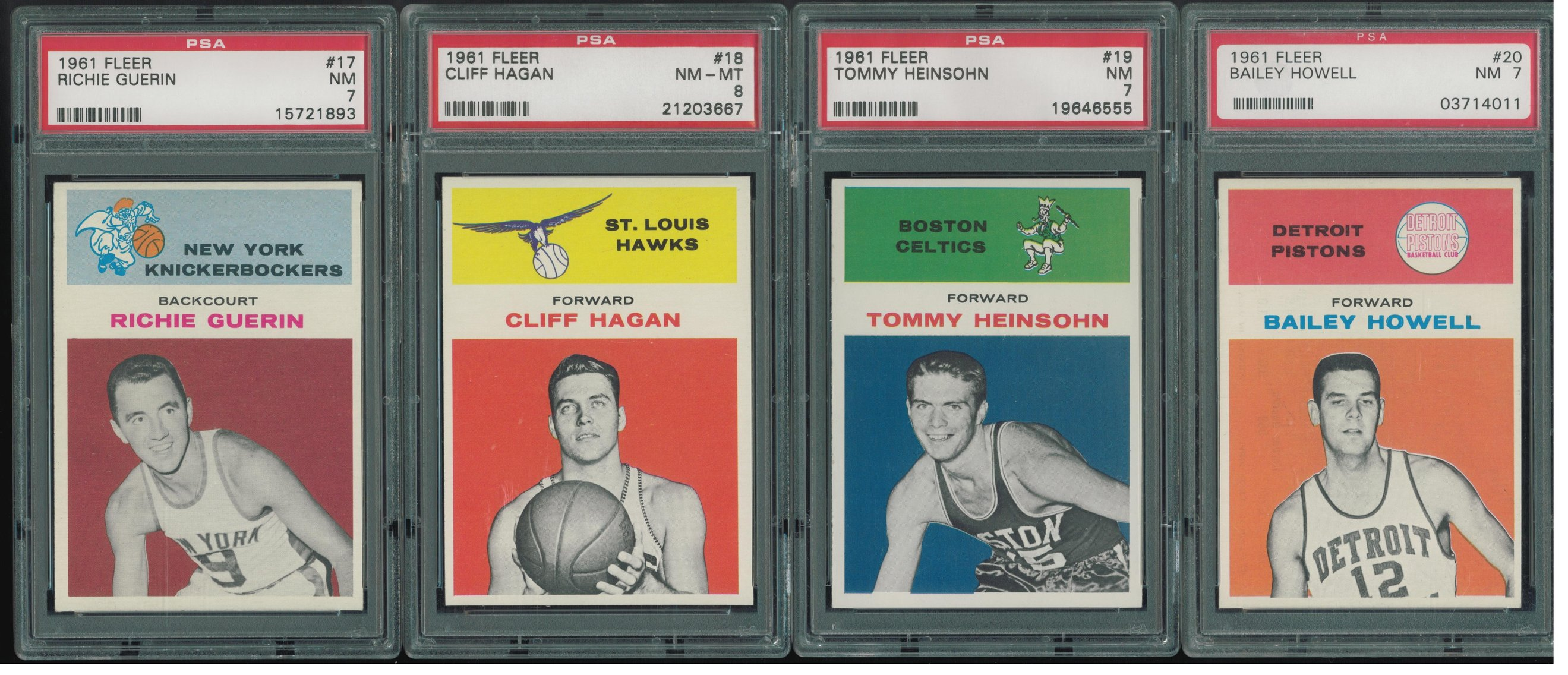 1961 Fleer Basketball PSA 7 8 Set Break is LIVE RESERVE