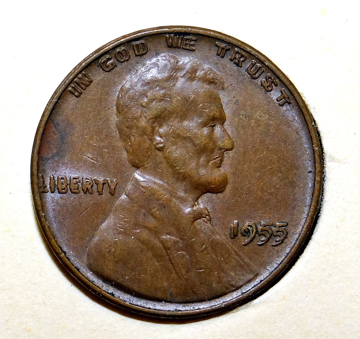 how to tell if a 1955 penny is double die