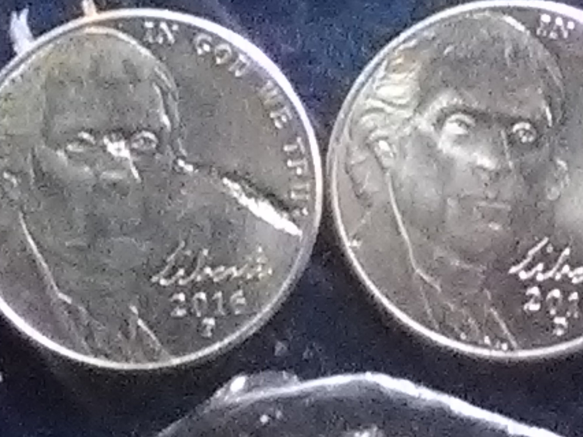 2016 p Jefferson nickel  Many errors  The reverse is on its side to