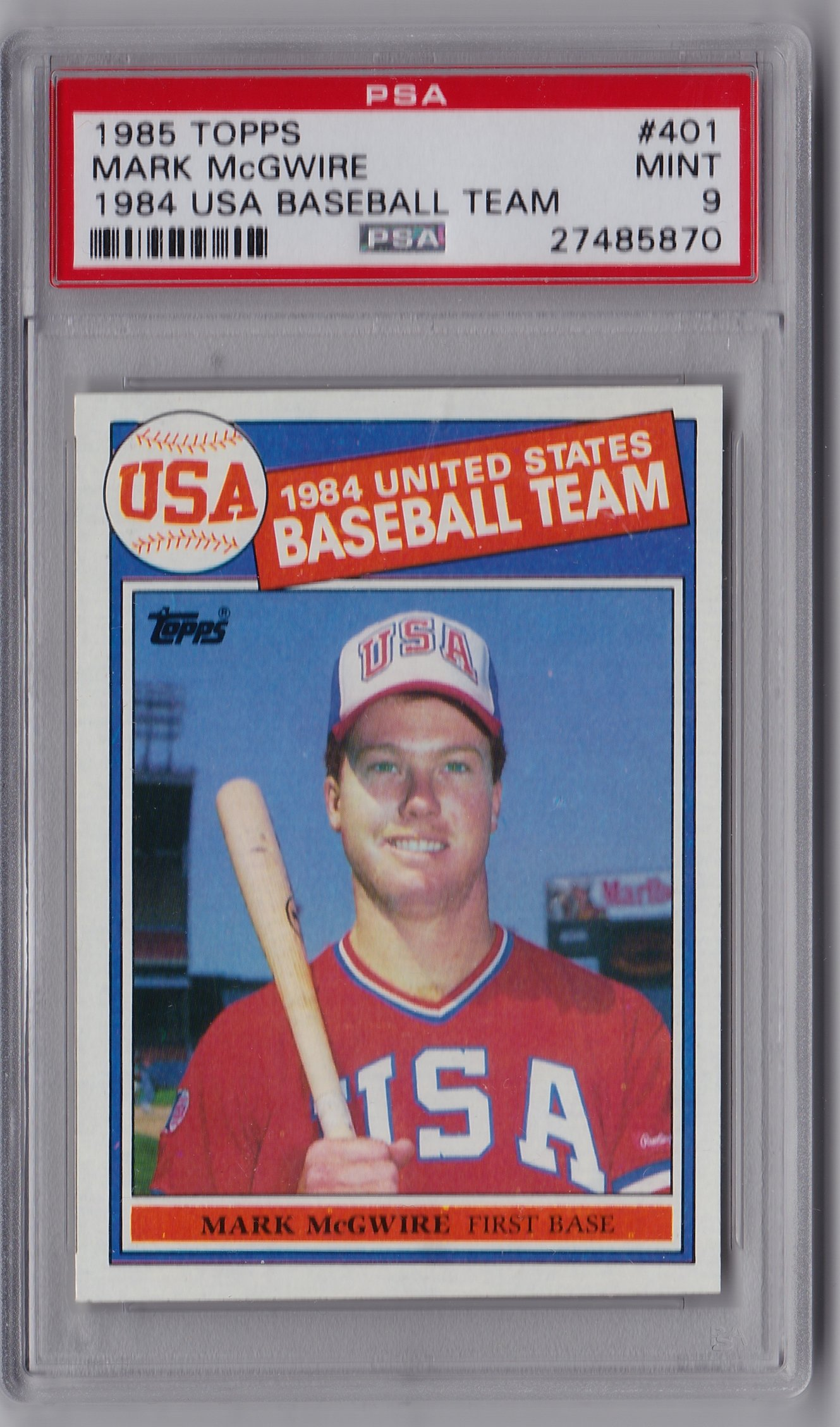 Sell My 1985 Topps Mcgwire Psa 10 Or Hold Onto It Collectors Universe