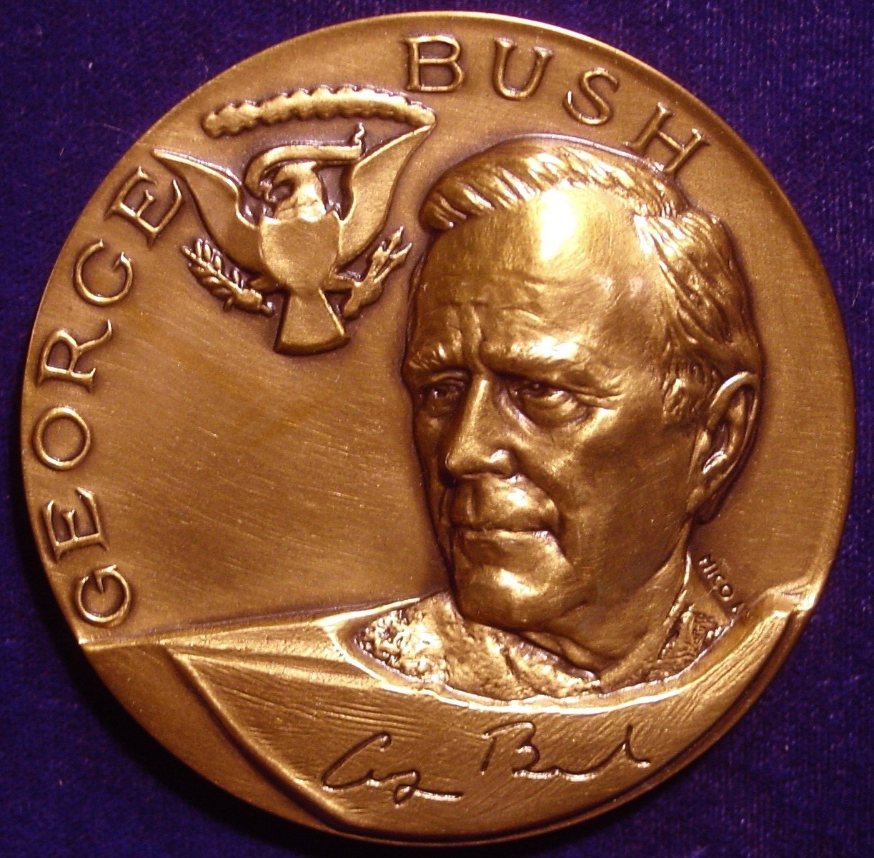 """US Mint Ronald Reagan Presidential High Relief 3/"""" Bronze Inaugural Medal"""
