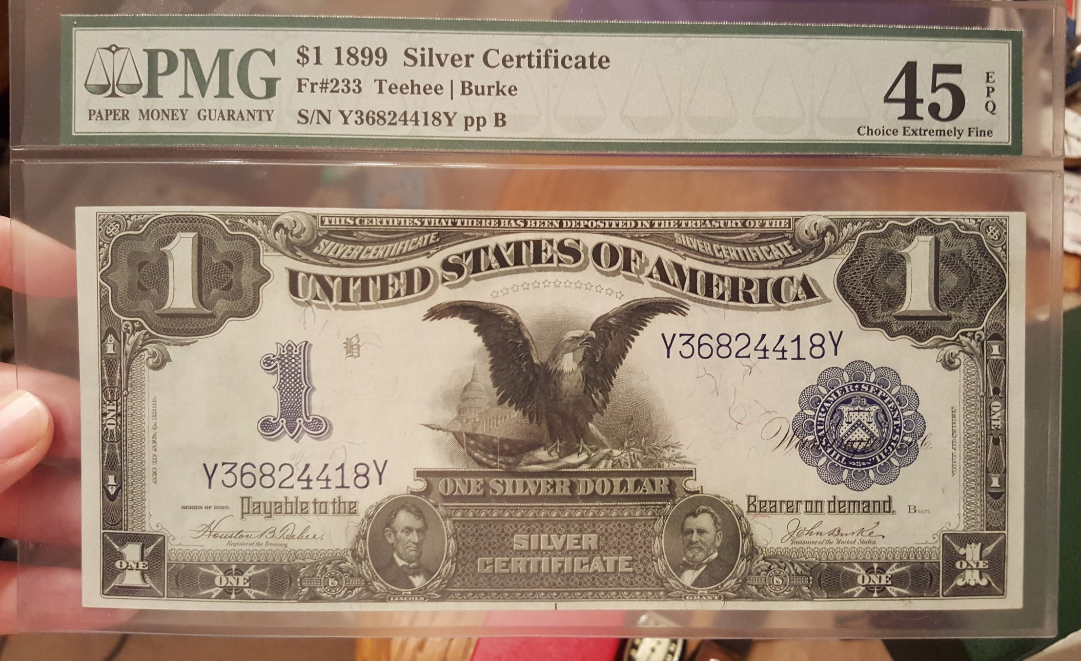 First Graded Note 1899 Silver Certificate Collectors Universe