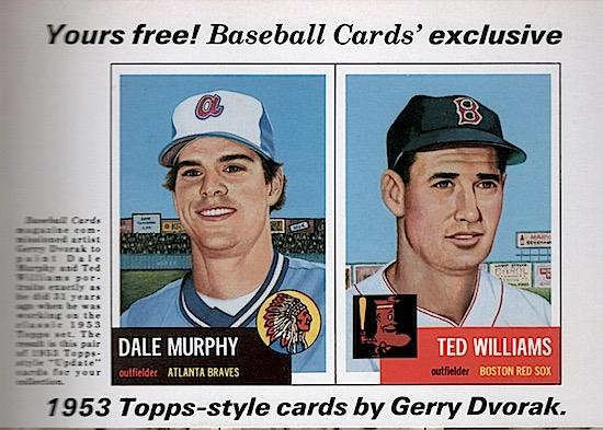 Baseball Cards Issue 9 August 1984 Dvorak 1953 Card