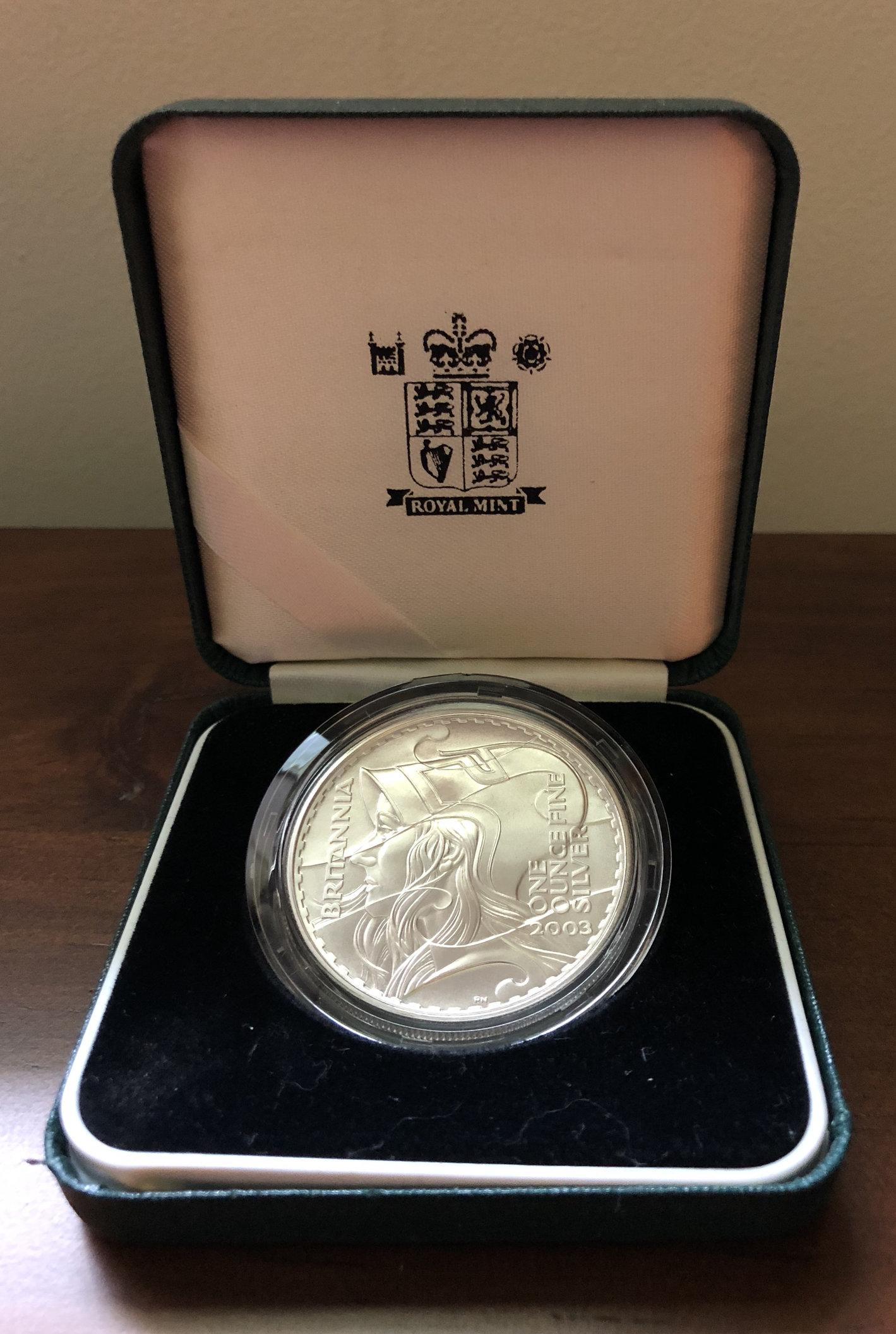 2003 Great Britain 2 Silver Proof Britannia
