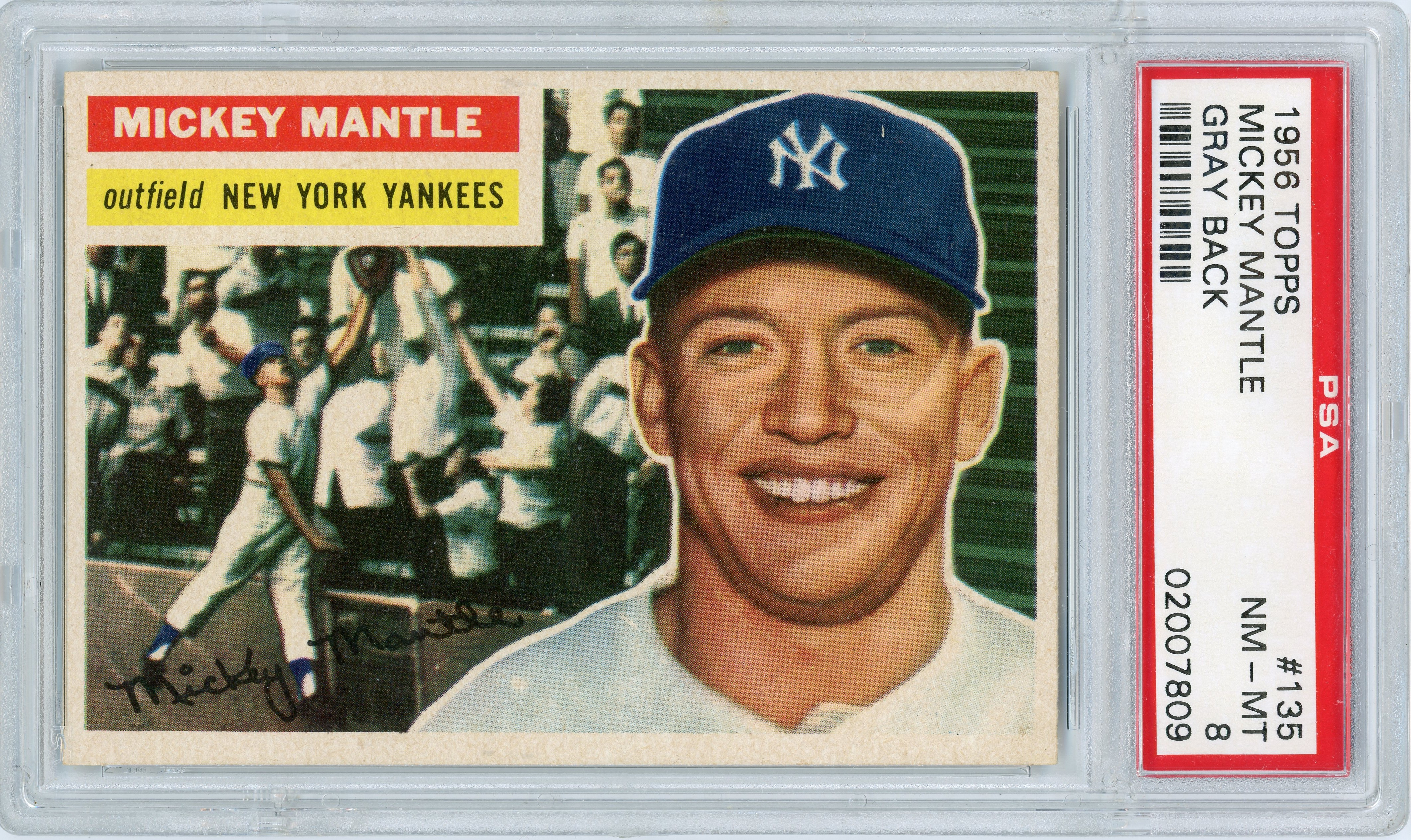 Trade My 1956 Topps Psa 8 Mantle For Your 1953 Topps Psa 8 Jackie