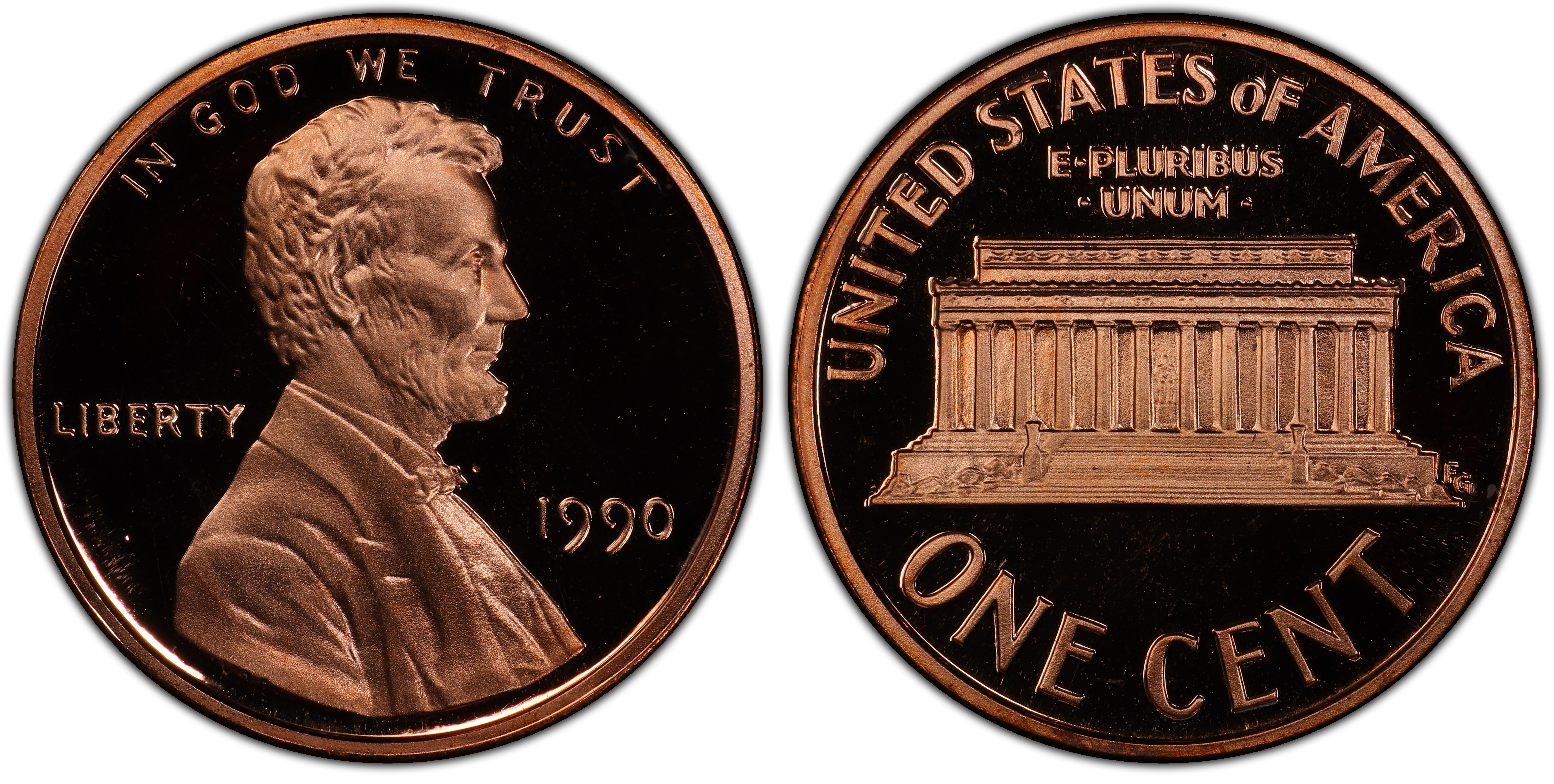 1990 proof no s one cent penny — Collectors Universe