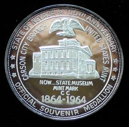 1964 MONTANA TERRITORIAL CENTENNIAL SOUVENIR DOLLAR WHITE METAL MEDAL