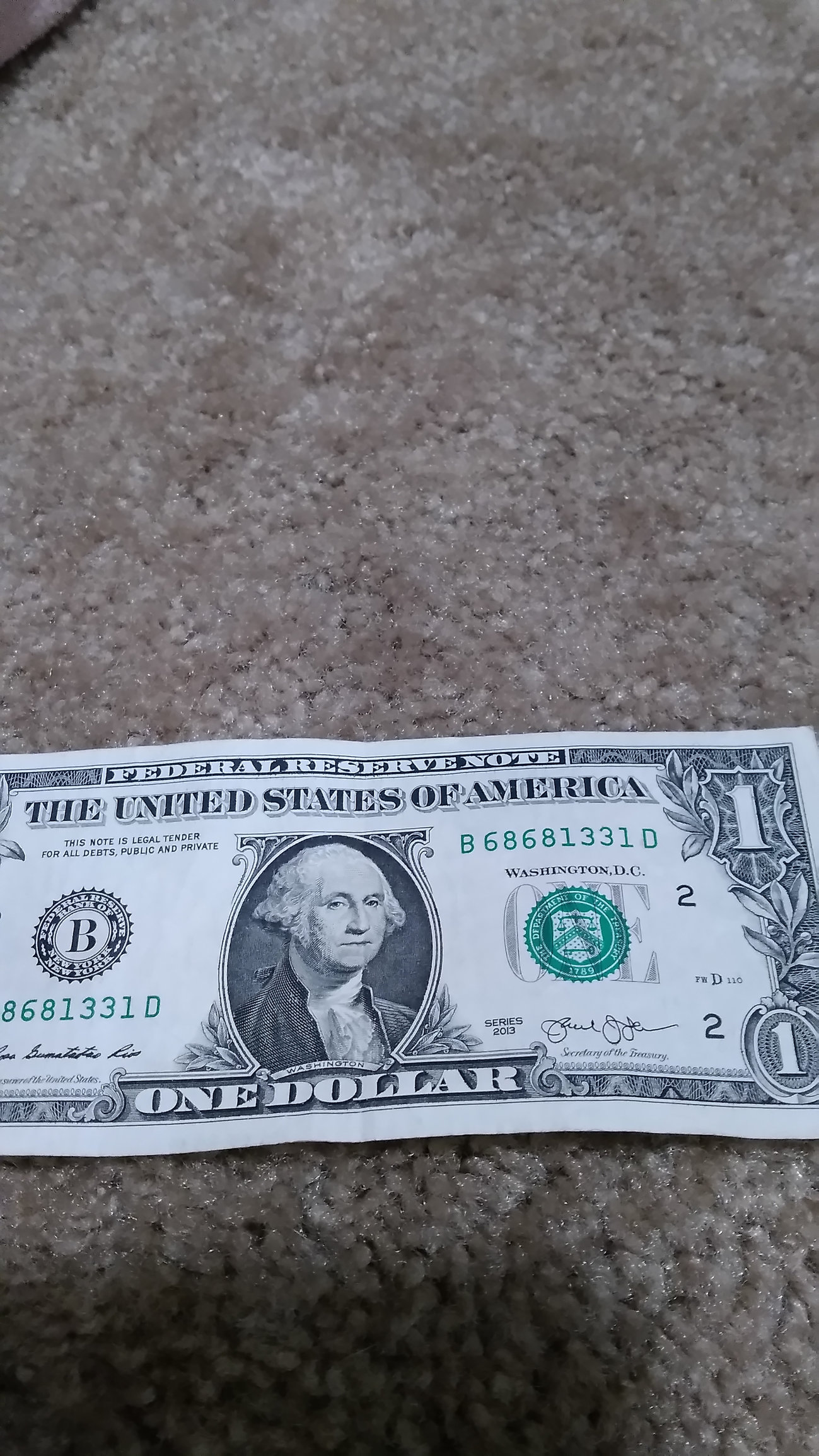 can you check the serial number on money