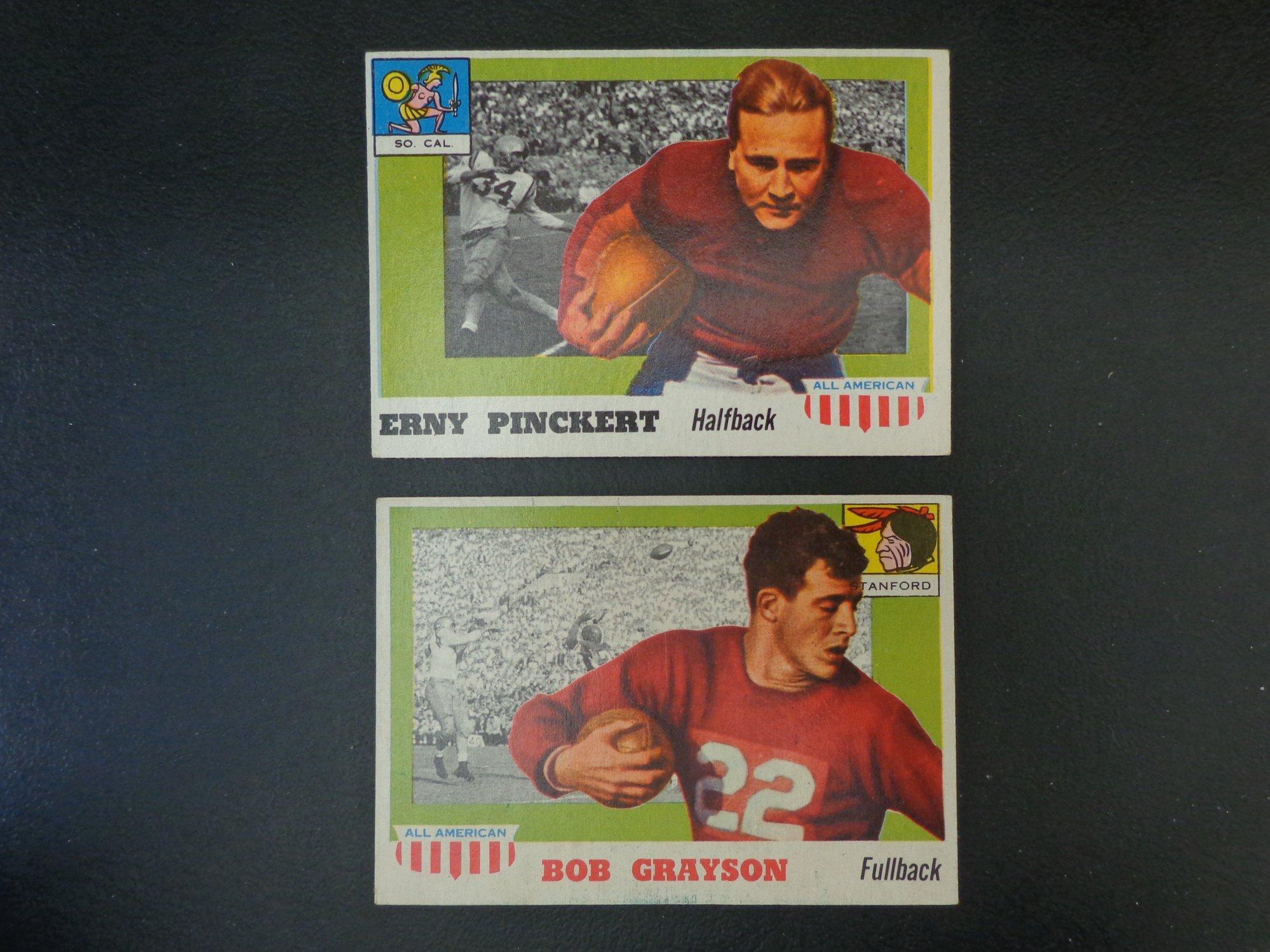 Verzamelkaarten: sport 1955 Topps All American 22 Brick Muller California Golden Bears RC Football Card